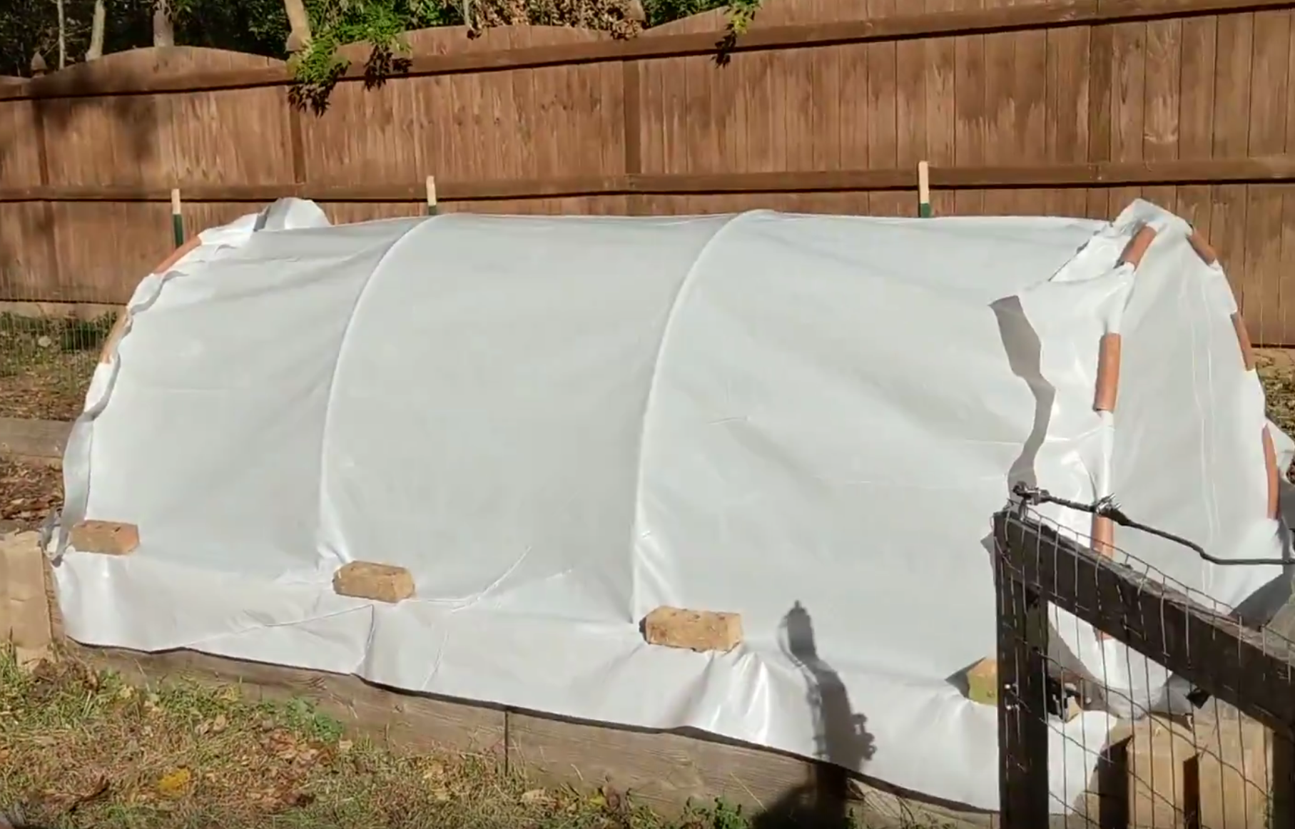 Fall gardening – 3rd bed covered.